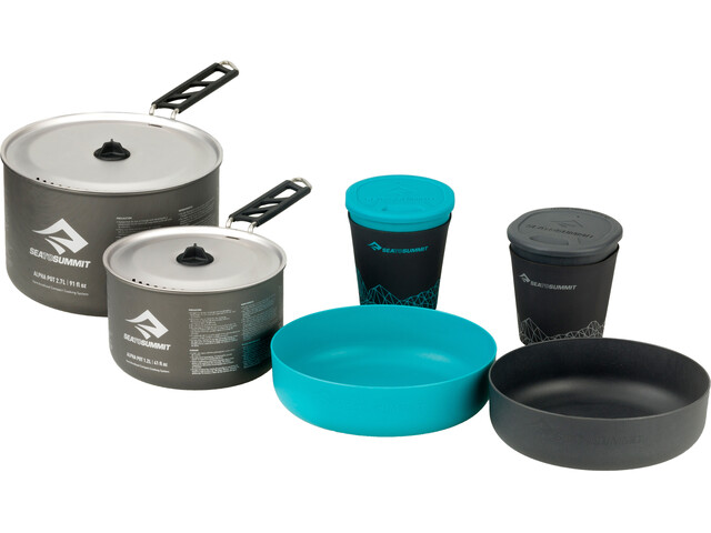 Sea to Summit Alpha 2 Pot Cook Set 2.2 - gris/turquoise